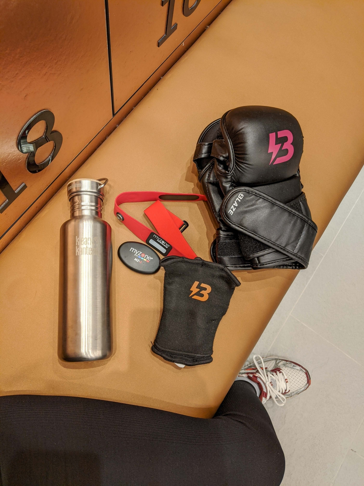 Equipment ready for a high intensity interval training classes