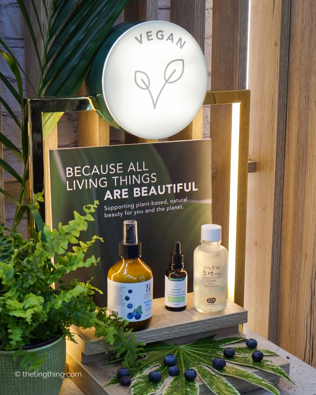 Holland and Barrett clean and conscious beauty commitment to vegan products display