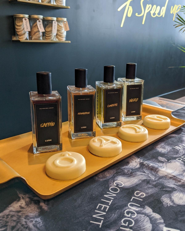Lush Spa Renaissance treatment four fragrances