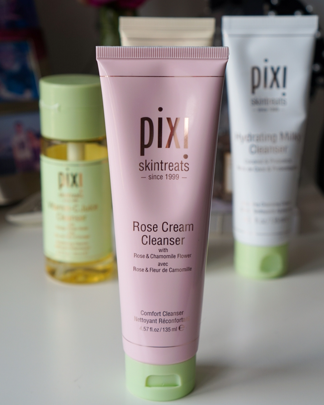 Pixi Beauty Rose Cream Cleanser recommended cleansers for dry and dull skin