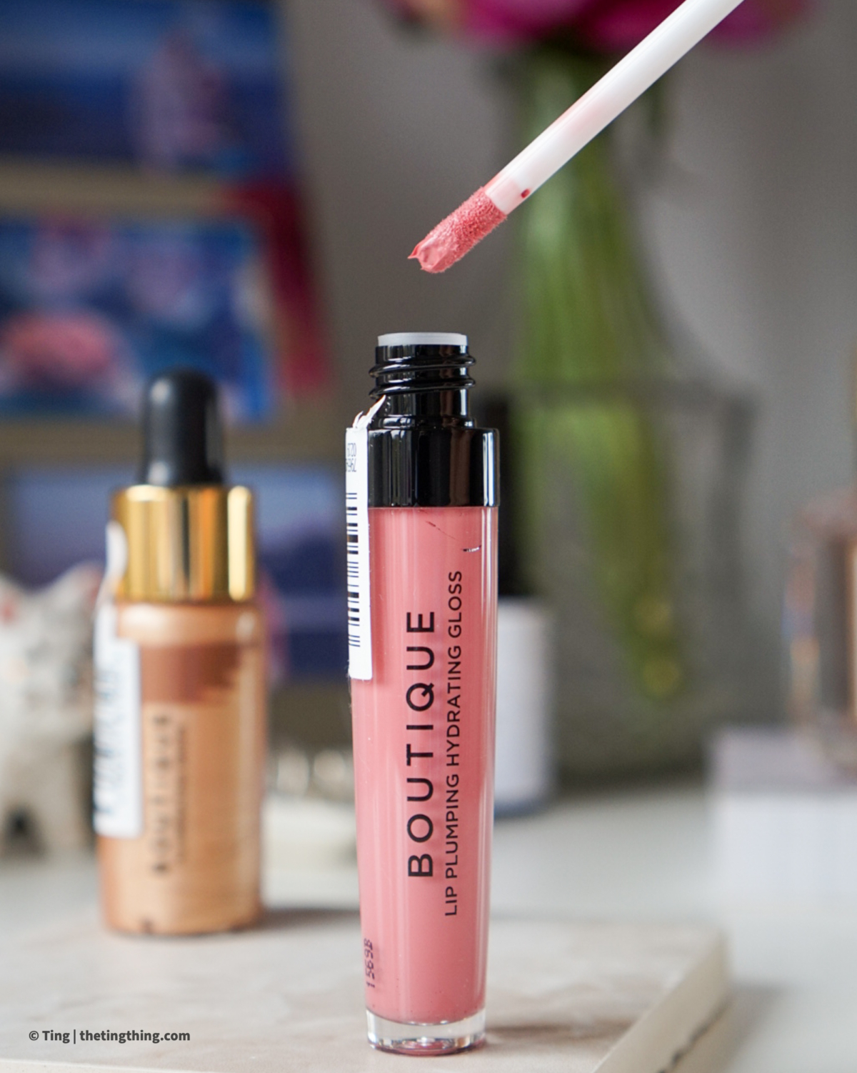 Sainsburys Boutique Lip Plumping Hydrating Gloss in Kiss Me Softly