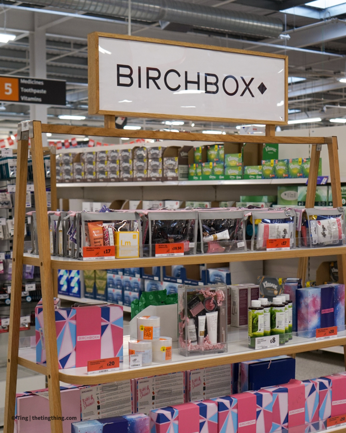 Sainsburys display for Birchbox products